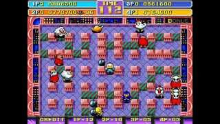 Bomberman World/New DynaBlaster 4 player Netplay arcade game 60fps