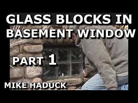 how to install basement windows how install glass blocks in basement window part of 2 mike haduck
