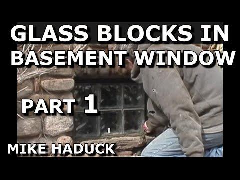 How I install Glass Blocks in basement windows.  Mike Haduck
