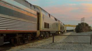 Amtrak Sunset Limited at Palm Springs - 1/16/11