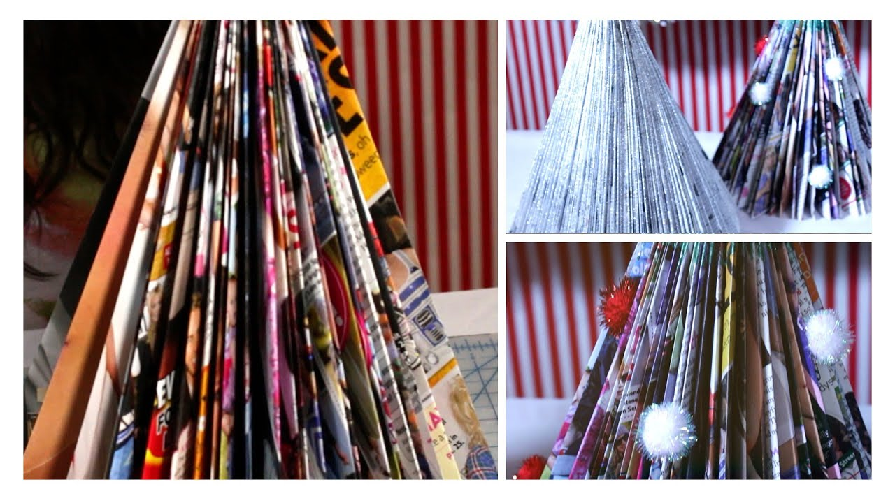 DIY Magazine Christmas Trees