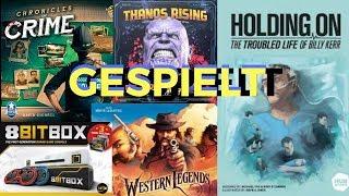 Gespielt: Western Legends, 8 Bit Box, Chronicles of Crime und mehr   Brettspiel Geeks   Brettspiele