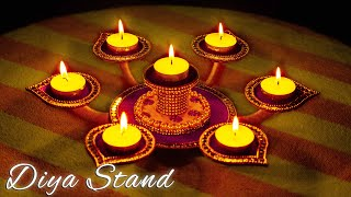 Diya Stand Making From Cardboard | Diwali Craft Idea | DIY | Diya stand | Crafty Butterfly 070