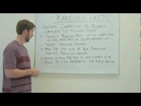 How To Locate Karcher Replacement Parts For Your Karcher Pressure Washers