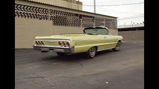 1964 Chevrolet Impala SS Convertible in Yellow & 327 Engine Sound on My Car Story with Lou Costabile