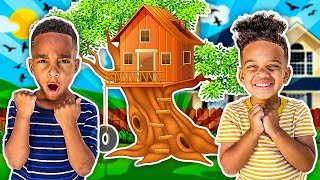 SURPRISING THE CLUBHOUSE KIDS WITH A TREEHOUSE & TRAMPOLINE IN THE BACKYARD