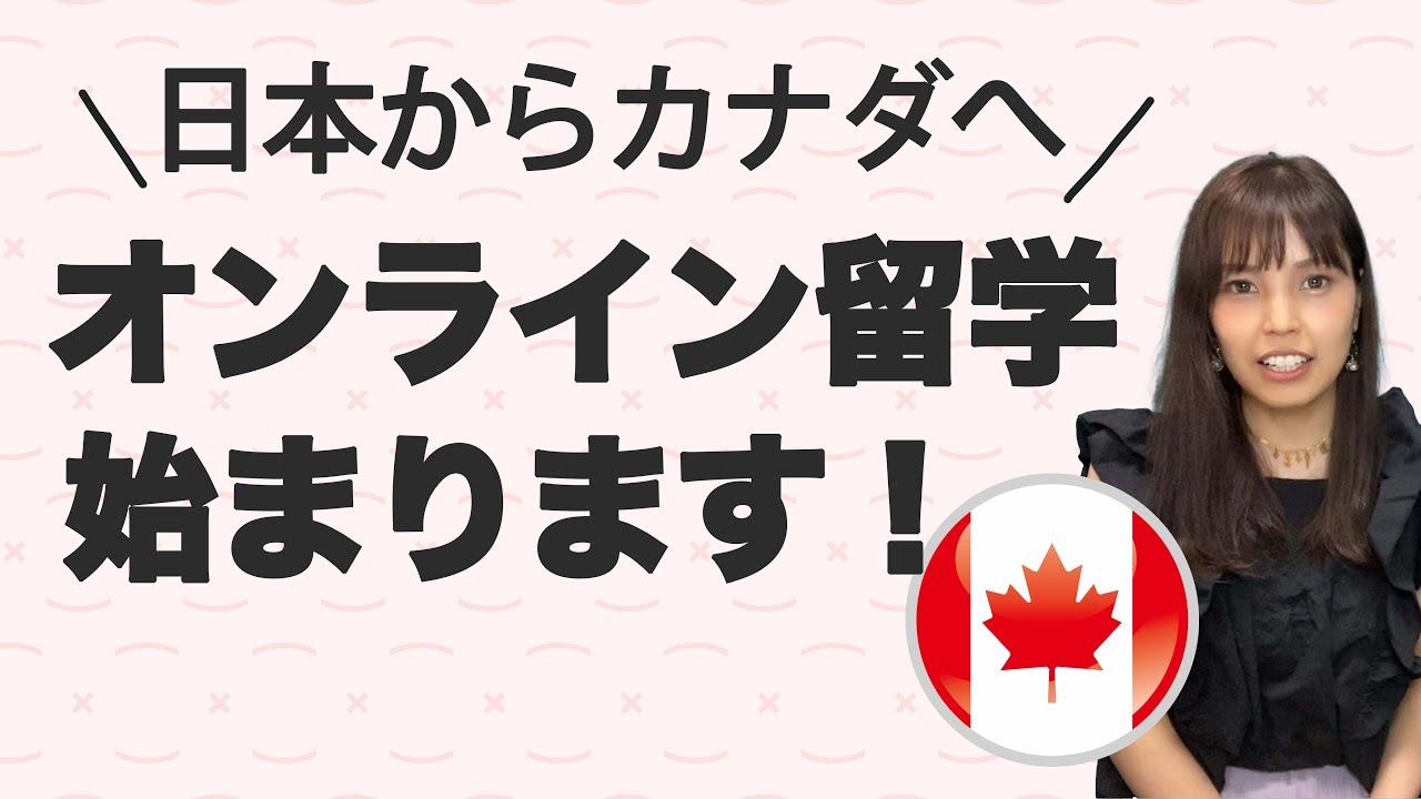 日本からカナダにオンライン留学をする