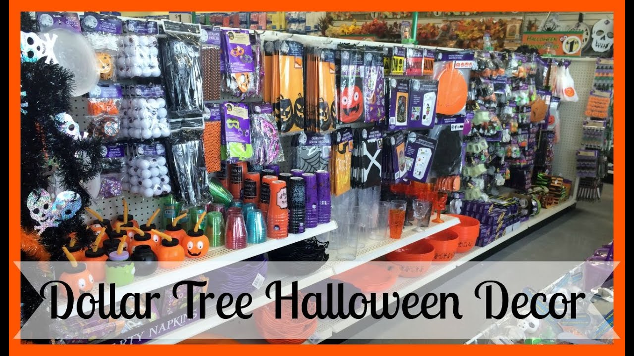 Dollar Tree Halloween Decor  2015  YouTube ~ 222626_Halloween Decoration Ideas Dollar Tree