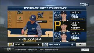 What did Brewers manager Craig Counsell think of Arcia's throw?