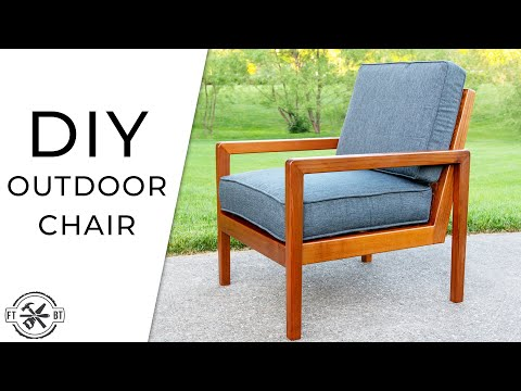 DIY Modern Outdoor Chair from Cedar 2x4s | How to Build