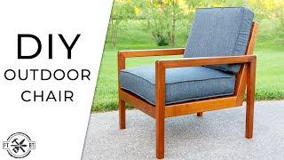 DIY Modern Outdoor Chair from Cedar 2x4s | How to Build