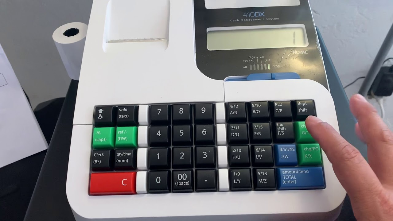How to program 5% tax on Royal 410DX model