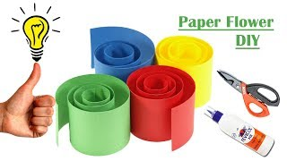 DIY Paper Flower Craft Idea   Paper flowers craft   How to make easy paper flowers