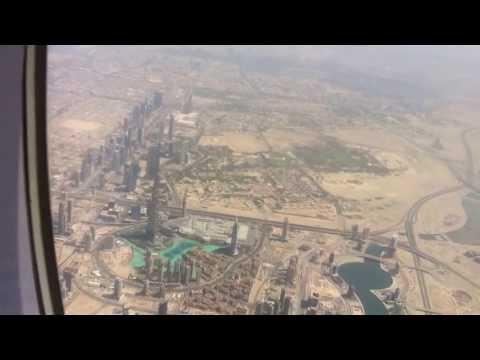 Best View on Burj Khalifa - Takeoff from Dubai (DXB)
