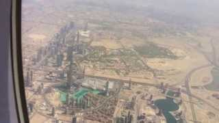 Best View on Burj Khalifa - Takeoff from Dubai (DXB)