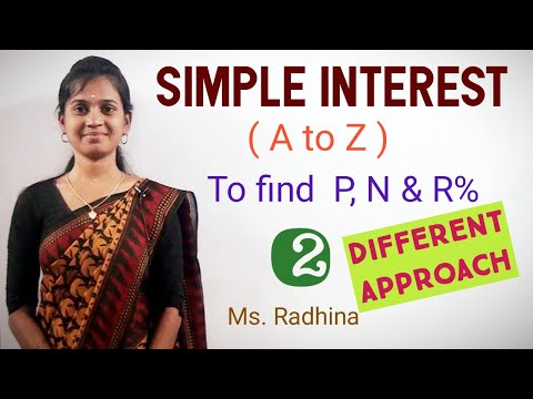 SIMPLE INTEREST ( A To Z) | PART 2 | To Find P, R% & N| Ms. RADHINA