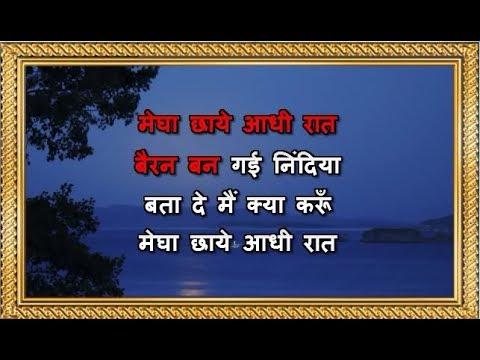Megha Chhaye Aadhi Raat - Karaoke - Sharmilee - Lata Mangeshkar