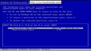 How to install Windows XP Professional with SP3