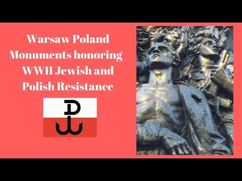 Warsaw, Poland Uprising Monuments dedicated to Jewish and Polish resistance fighters