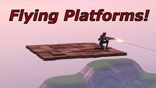 How to make flying platforms in creative || Fortnite glitch video