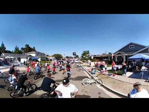 360 Video - July 4, 2017 - West Garden Grove Fourth of July Bike Parade (Eastgate Neighborhood)