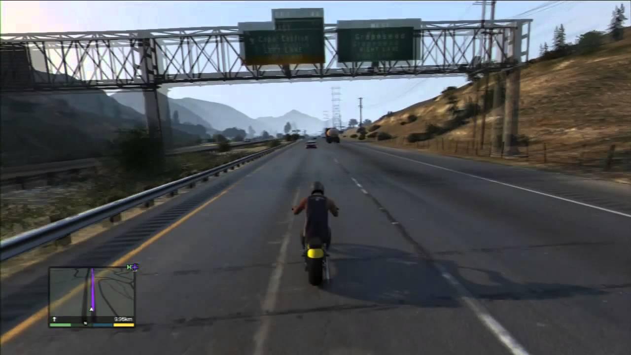 Grand Theft Auto 5: Przejazd przez całą mapę - YouTube