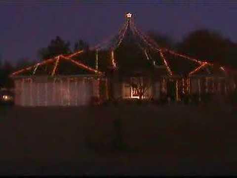 Crazy Christmas lights display set to music