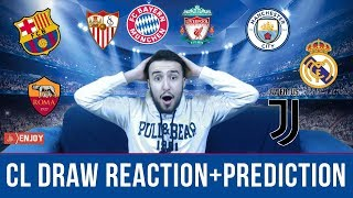 CHAMPIONS LEAGUE QUARTER FINAL DRAW REACTION