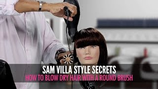 How To Blow Dry With a Round Brush For Best Results