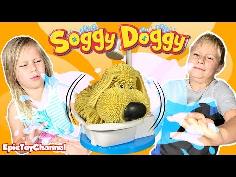 Soggy Doggy Toy Challenge Game - Extreme Epic Surprise Blind Bags Toy Builds and a Family Fun Game