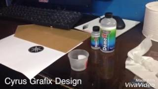 Domed sticker process