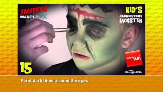 Frankenstein Halloween Face Painting Make-up Tutorials for Children Thumbnail