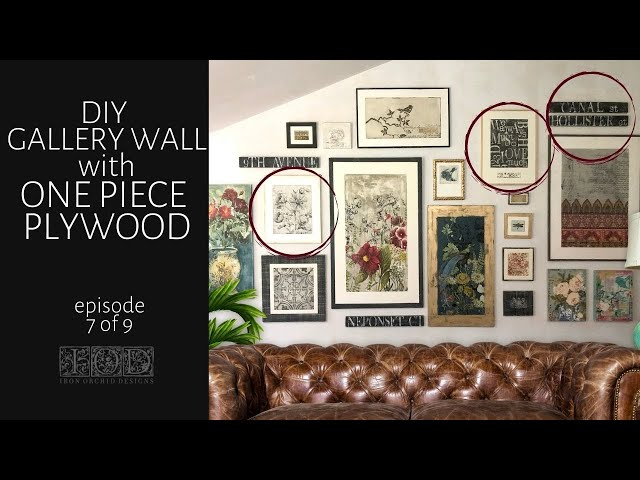 IOD Gallery Wall Episode 7 - Classic Bouquet, Street Sign and Typeset using IOD Transfers and Stamps