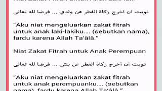 Download Video Niat & Do'a Zakat Fitrah MP3 3GP MP4