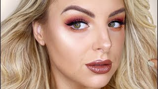GET READY WITH ME! BURGUNDY EYES + BROWN LIPS ✨