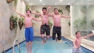تحدي المسبح مع اخواني !