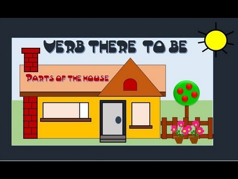 Verb there to be parts of the house english language for There is there are pictures