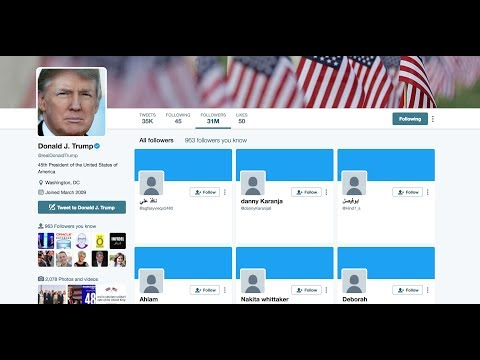 EXCLUSIVE: Real Time VIDEO Thousands of FAKE Trump Twitter Followers an HOUR 5/30/17
