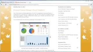 Personal Finance Manager (Excel template)