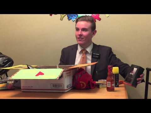 Elder Hanshew's birthday package