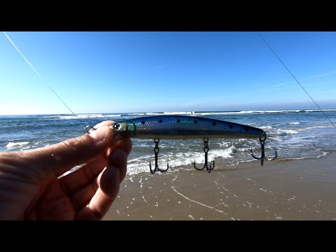 SAN DIEGO SURF FISHING FOR HALIBUT [LUCKY CRAFT]