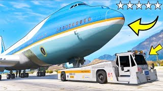 What happens if you steal President's Air Force One plane?! (GTA 5 Mods Gameplay)