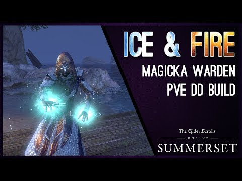 "Magicka Warden Build PvE ""Ice&Fire"" - Summerset Chapter ESO"
