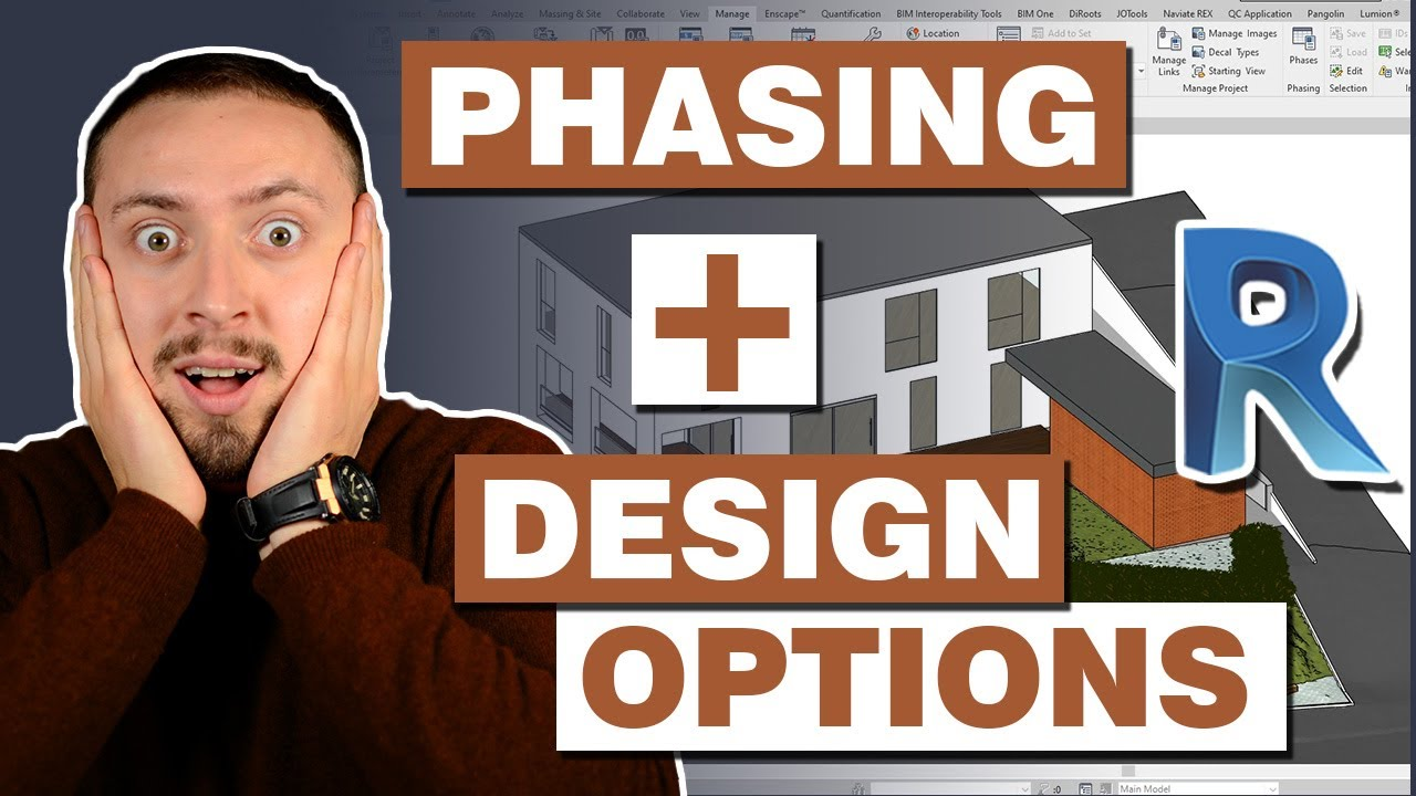 How to use Design Options in Revit with Revit Phasing Tutorial