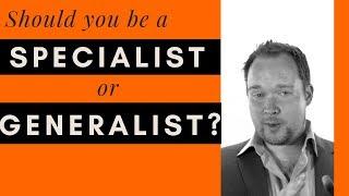 Specialist or Generalist in your career as digital artist?