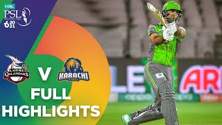 Full Highlights | Lahore Qalandars vs Karachi Kings | HBL PSL 6 | Match 11 | MG2T