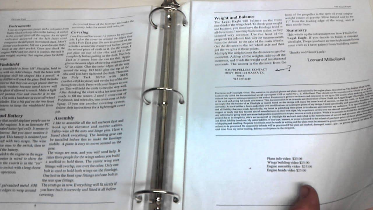 Legal Eagle Airplane plans / blueprints overview