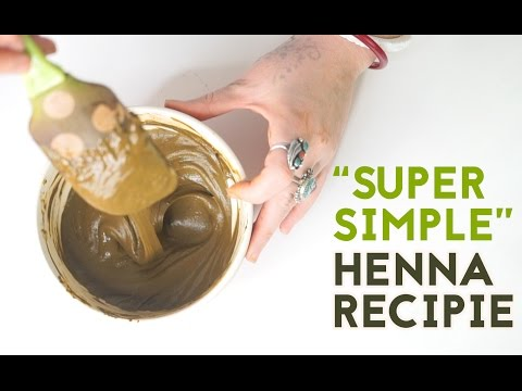 The Most Super Simple Henna Recipe (Organic)