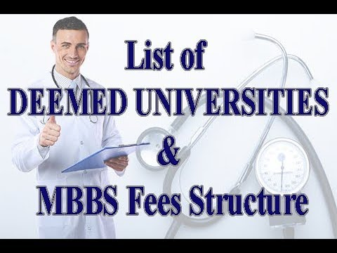 List of Deemed University Medical Colleges & its MBBS fee structure