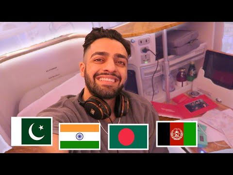FIRST TIME FLYING EMIRATES BUSINESS CLASS! (Brown People Edi
